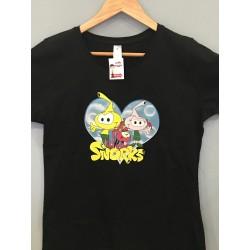 camiseta Snorks mujer negra