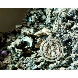 Colgante charm plata swarovski Time Turner Harry Potter