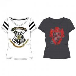 Camiseta Harry Potter escudo hogbarts mujer