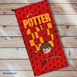 Toalla Chibi Harry Potter Quidditch microfibra